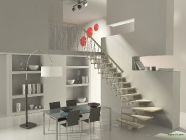 kitchen interior render mental ray