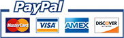 secure payments with Mastercard, Visa and others via Paypal