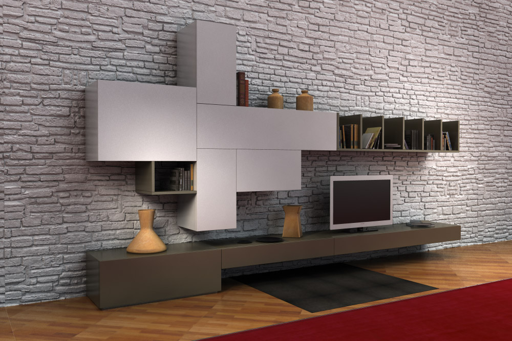 Living rooms lcd cabinet brera for Lcd cabinet designs for living room
