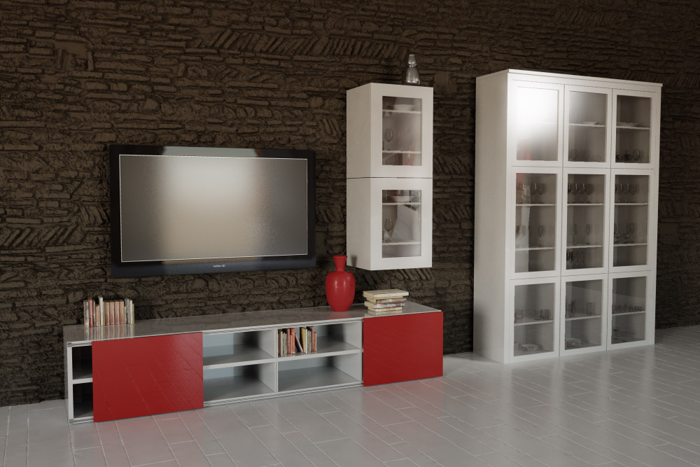 Living Rooms Lcd Cabinet Geneva