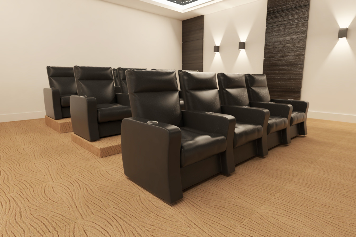 Theatre room armchairs