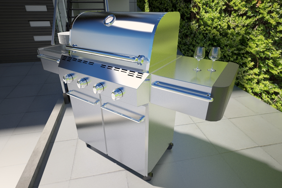 South Tyrol impregnated panels 60x180 Barbecue Laas