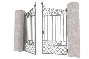Free 3d Models Old Iron Gate - free 3d models obj fbx