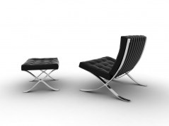 Barcellona Chair and Stool autodesk maya object archmodels