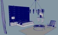 modern Bedroom Modena 3d model obj fbx mb