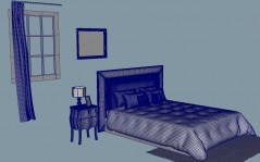 Bedroom Pompei 3d model 3ds obj fbx mb