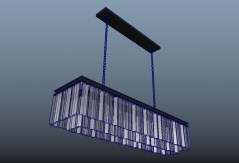 Odeon fringe rectangular 49 3d model obj fbx