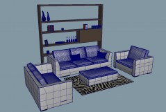 Couch set Sorrento 3d models obj