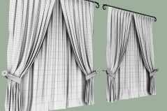 Curtains Classic for maya archmodels wireframe