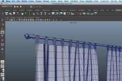 Curtains Contemporary archmodels for maya download wireframe