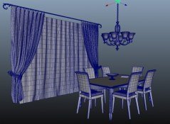 Dining Room Baressa 3d model