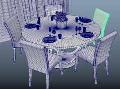Dining room Galileo 3d model fbx obj mb