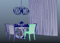 Dining room Galileo obj fbx 3d model
