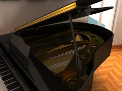 Grand Piano maya archmodel