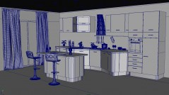 Kitchen Pisa maya archmodels with shading vray mental ray