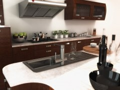 Kitchen design Milan interior render