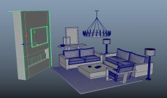 Living Room Colomba 3d model obj fbx mb