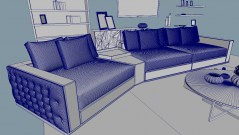 Living room fendi casa Plaza sofa 3d model obj fbx mb