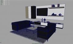 livingroom set Cosenza 3d models for maya with shaders for mental ray and vray