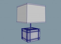 Loring table lamp 3d model obj fbx mb
