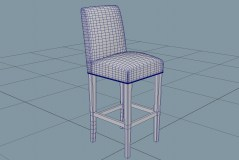 Counter stool morgan track 3d model hr