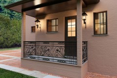 Rail antique 3d model obj balcony iron cage