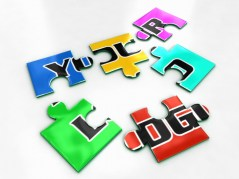 Puzzle for logos made in autodesk maya