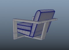 Chair Roger fabric 3d model obj fbx