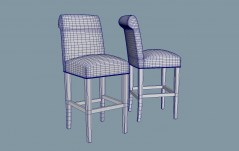 Counter stool hudson 3d model obj fbx mb