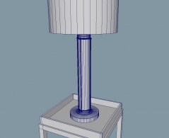 Table lamp flatirion 3d model obj fbx mb