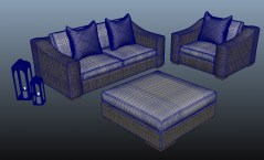 Garden furnitures luxury 3d model obj fbx mb